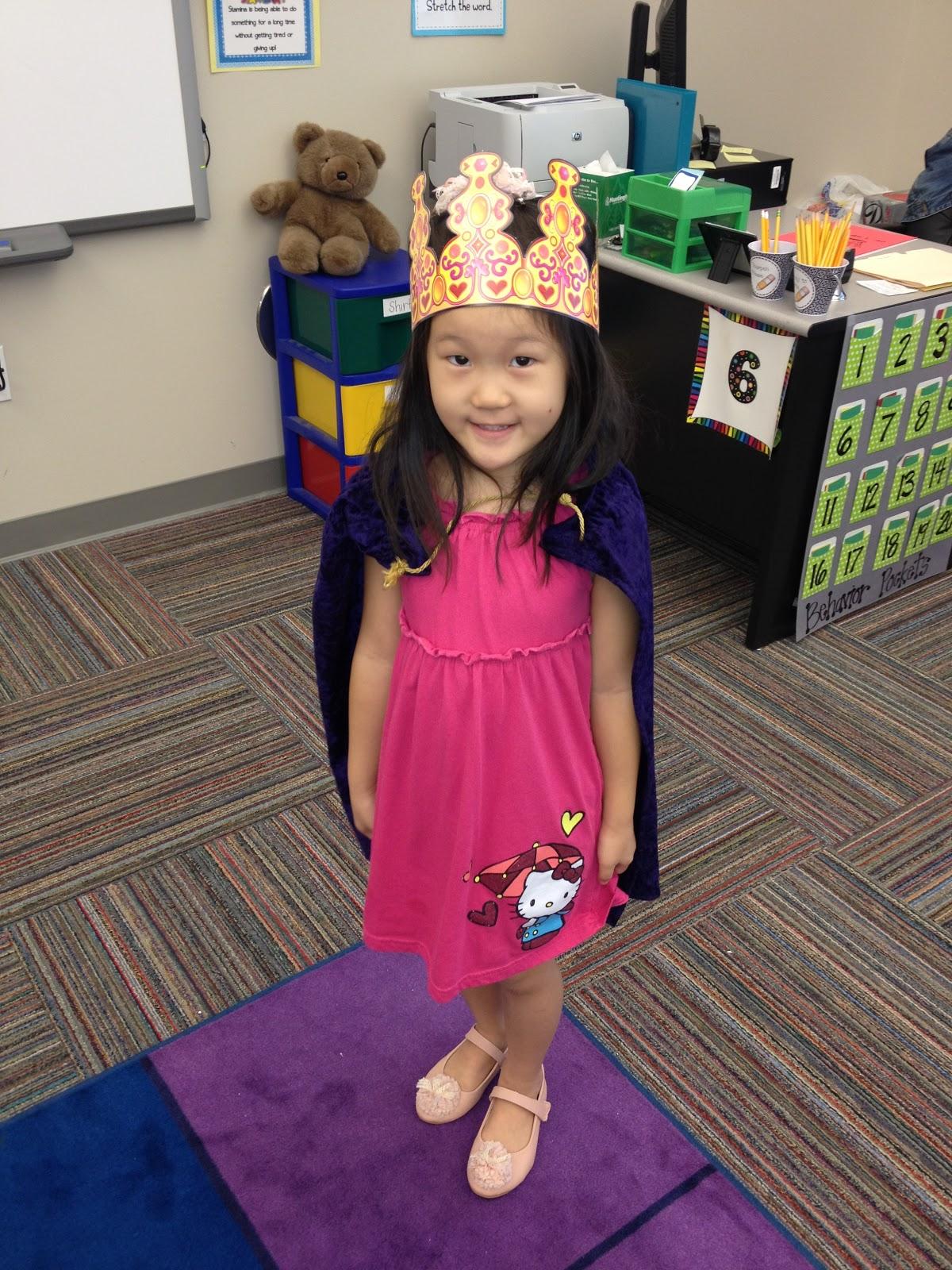 Polka Dottin In Robert S Kindergarten King Queen Of The Day